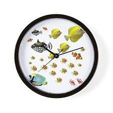 Saltwater Fish Wall Clock