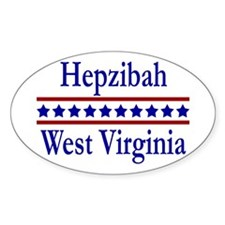 Hepzibah WV Oval Decal