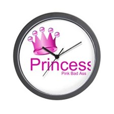 Princess Pink Bad Ass Wall Clock