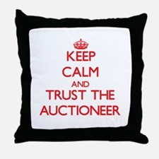 Keep Calm and Trust the Auctioneer Throw Pillow