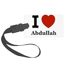 I love Abdullah Luggage Tag