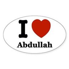 I love Abdullah Decal