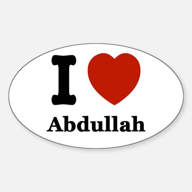 I love Abdullah Decal