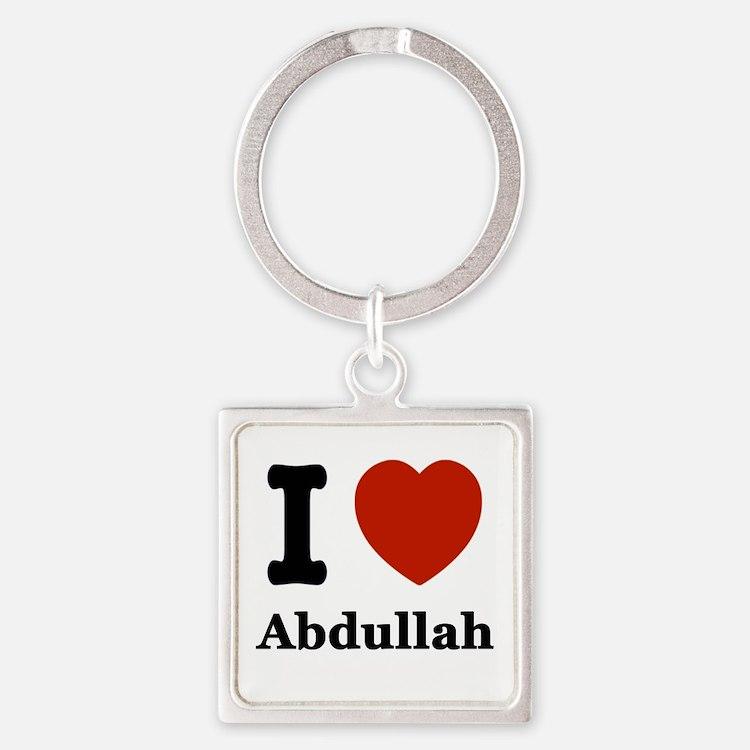 I love Abdullah Square Keychain