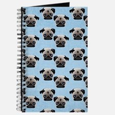 Pugs on Pastel Blue Journal