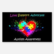 Autism Puzzle on Heart Decal