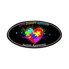 Autism Puzzle on Heart Patches