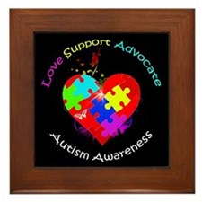 Autism Puzzle on Heart Framed Tile