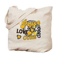 Peace Love Cure 2 COPD Tote Bag