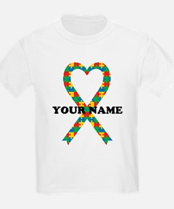 Personalized Autism Ribbon T-Shirt