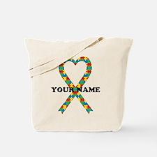 Personalized Autism Ribbon Tote Bag