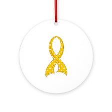 Polka Dot Ribbon COPD Ornament (Round)