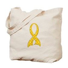 Polka Dot Ribbon COPD Tote Bag