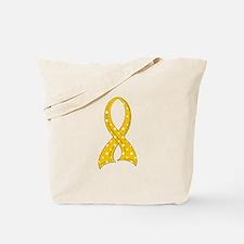 Polka Dot Ribbon COPD Tote Bag