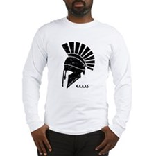Greek warrior helmet Long Sleeve T-Shirt