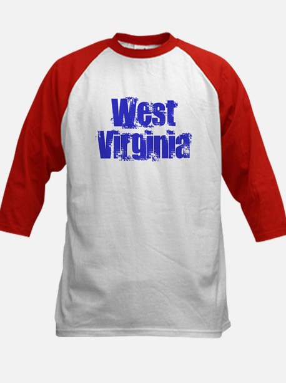 Distorted West Virginia Kids Baseball Jersey