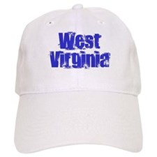 Distorted West Virginia Baseball Cap