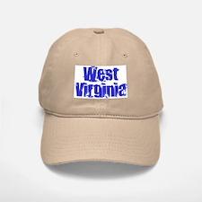 Distorted West Virginia Baseball Baseball Cap