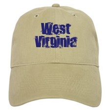Distorted West Virginia Baseball Cap