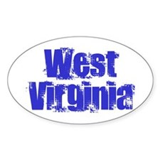 Distorted West Virginia Oval Bumper Stickers