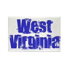 Distorted West Virginia Rectangle Magnet