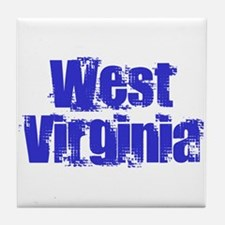 Distorted West Virginia Tile Coaster