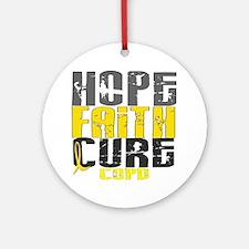 Hope Faith Cure COPD Ornament (Round)