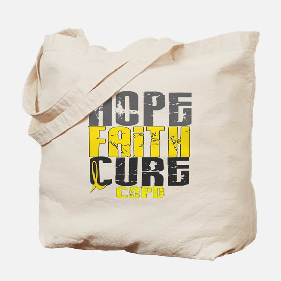Hope Faith Cure COPD Tote Bag