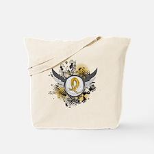 Grunge Ribbon Wings COPD Tote Bag