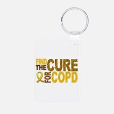 Find the Cure COPD Aluminum Photo Keychain