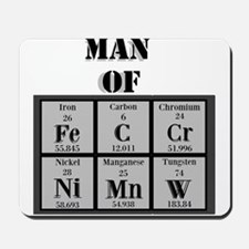 Man of Steel Periodic Elements Mousepad