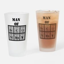 Man of Steel Periodic Elements Drinking Glass