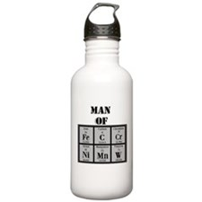 Man of Steel Periodic Elements Water Bottle