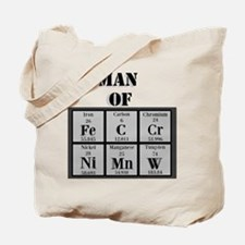 Man of Steel Periodic Elements Tote Bag