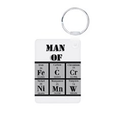 Man of Steel Periodic Elements Keychains