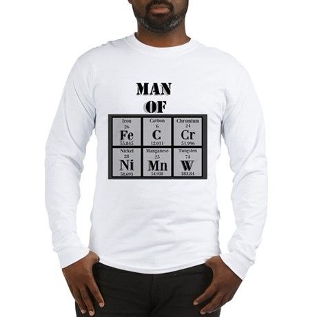 Man of Steel Periodic Elements Long Sleeve T-Shirt