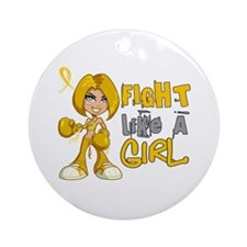 Fight Like a Girl 42.8 COPD Ornament (Round)