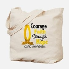 Courage Faith 1 COPD Tote Bag