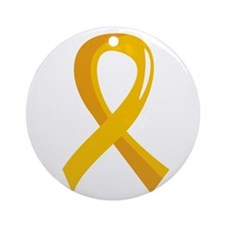 Gold Ribbon 3 COPD Ornament (Round)