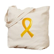 Gold Ribbon 3 COPD Tote Bag