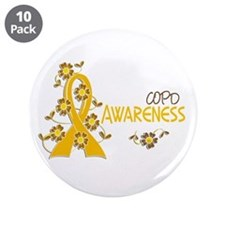 "Awareness 6 COPD 3.5"" Button (10 pack)"