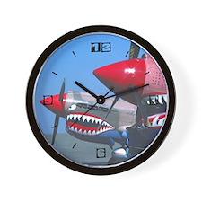 2 P-40s Tiger's Teeth Wall Clock