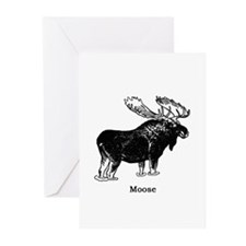 Bull Moose (illustration) Greeting Cards