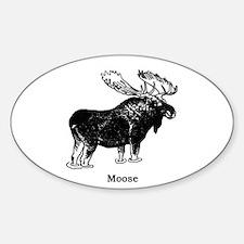 Bull Moose (illustration) Decal