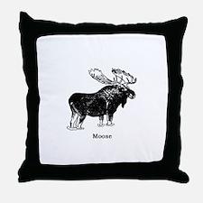 Bull Moose (illustration) Throw Pillow