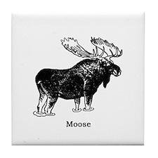 Bull Moose (illustration) Tile Coaster