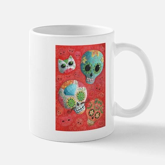 Colorful Mexican Sugar Skulls Mugs