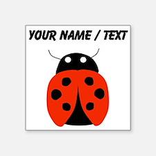 Custom Red Ladybug Sticker