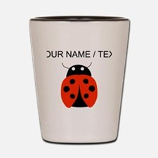 Custom Red Ladybug Shot Glass