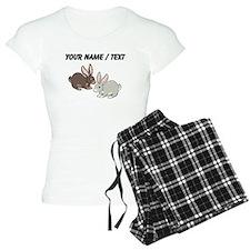 Custom Brown And Grey Bunnies Pajamas